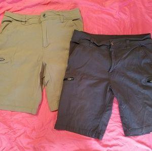 gray and khaki shorts both size 34 men's